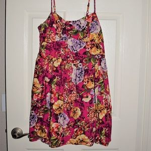 Xhilaration Floral Dress With Pockets Size Large